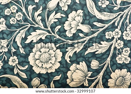 vintage floral texture - stock photo