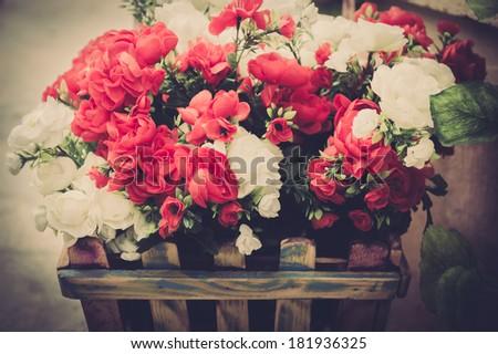 Vintage Flowers. - stock photo