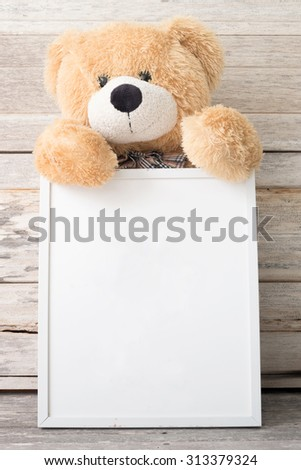 Vintage Frame Teddy Bear Stock Photo (Royalty Free) 313379324 ...