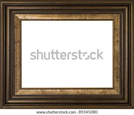 Vintage frame isolated on white - stock photo