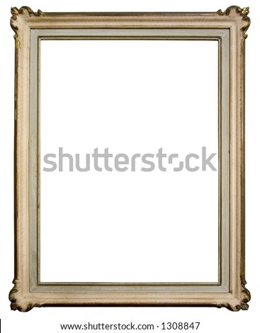 Vintage frame isolated on white background - stock photo