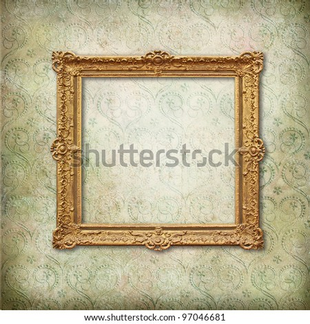 Vintage frame on faded grunge stylized texture - stock photo