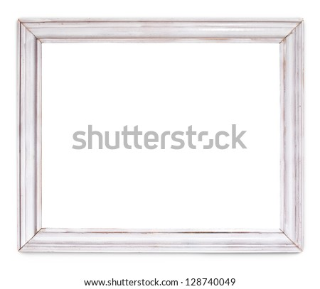 vintage frame on white background with clipping path - stock photo