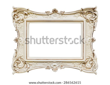 Vintage frame on white -Clipping path - stock photo