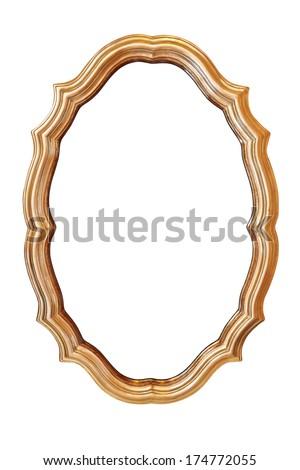 Vintage frames on white background - stock photo