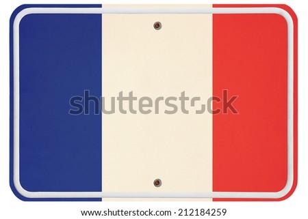 Vintage France metal sign - stock photo