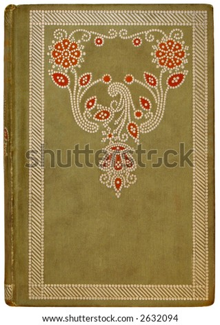 Vintage French Book Cover 1878 - stock photo