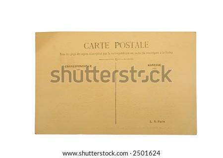 Vintage French postcard - stock photo