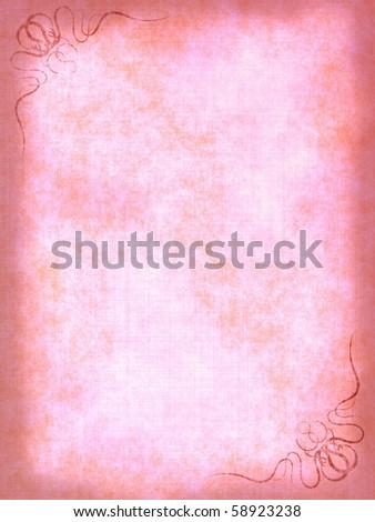 Vintage Gallery: Old paper background with scratches and decorative elements - stock photo