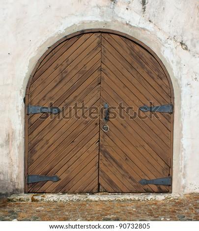 Vintage gate - stock photo