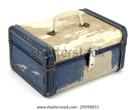 Vintage generic suitcase from the 1950s - stock photo