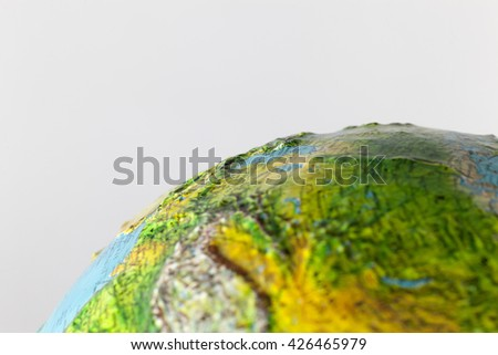 vintage globe close up macro - stock photo