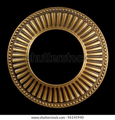 Vintage gold ornate frame - stock photo