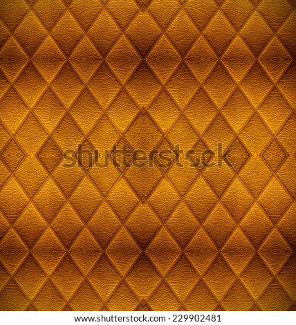 vintage Golden leather pattern background