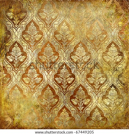 vintage golden shabby background - stock photo