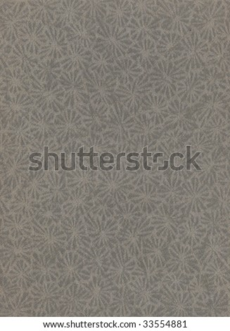 Vintage gray paper with design - stock photo