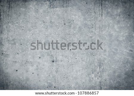 Vintage grey painted plaster concrete wall background. Dark edged