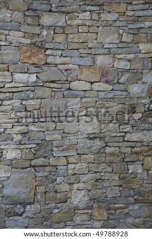 vintage grey stone wall background - stock photo