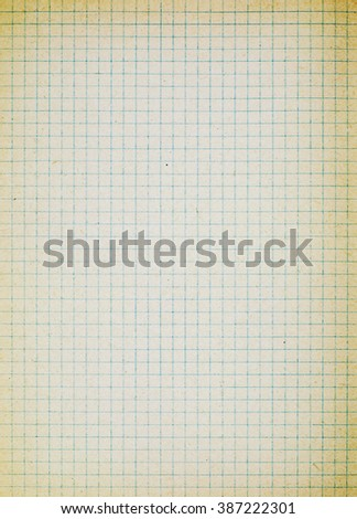 Vintage grid paper background - stock photo