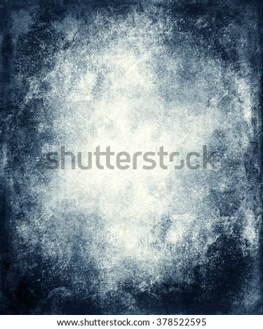 Vintage grunge blue background with faded central area for your text or picture - stock photo