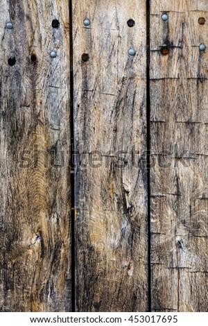 Vintage grunge distressed wooden planks background - stock photo