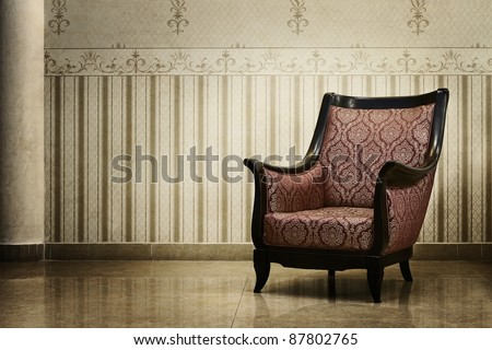 Vintage grunge empty interior - stock photo