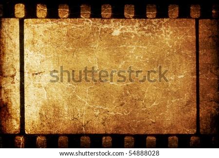 Vintage grunge 35mm filmstrip retro background. - stock photo