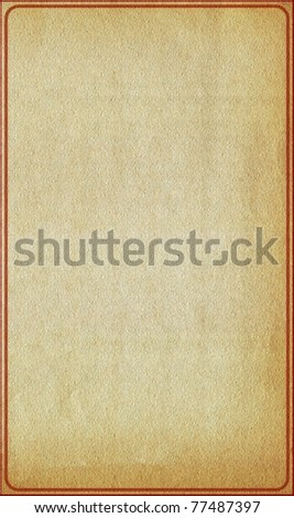 Vintage grunge old paper with floral patterned background and frame borders - stock photo