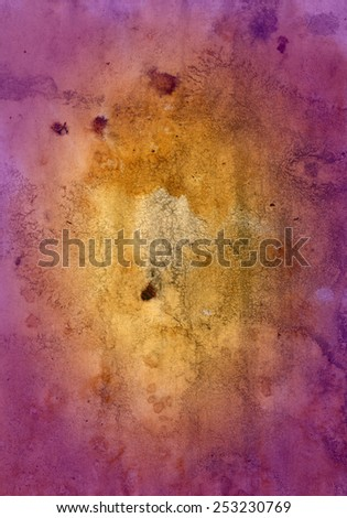vintage grunge rusty stained damaged paper design with space for text or image - stock photo