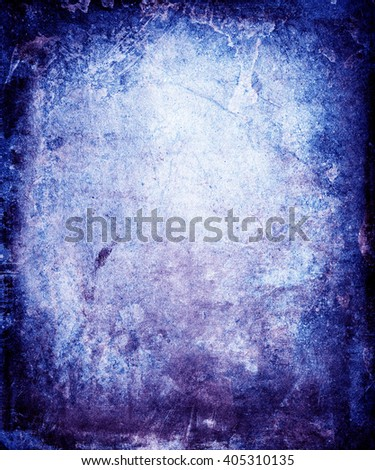 Vintage Grunge Scratched Background With Faded Central Area For Your Text Or Picture - stock photo