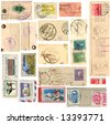 Vintage Grunge stamp collection - stock photo