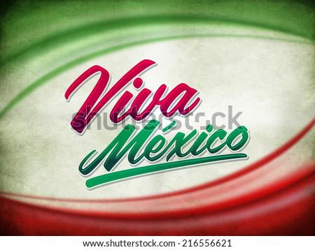 Vintage grunge viva mexico poster  - stock photo