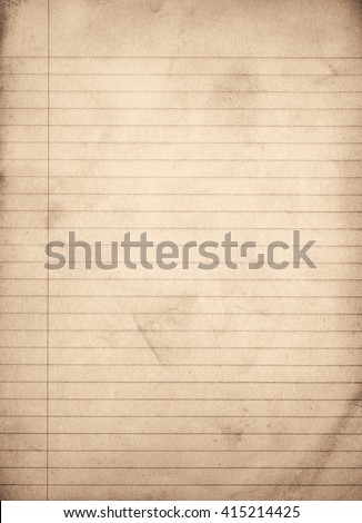 Vintage Grungy Lined Paper - stock photo