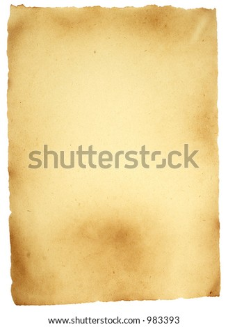 Vintage Grungy paper with path - stock photo