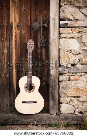 Vintage Guitars - stock photo