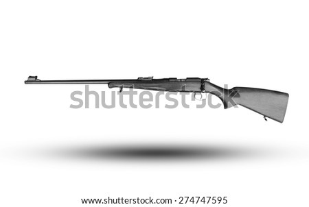 vintage gun isolated - stock photo