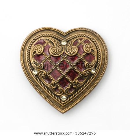 vintage heart - stock photo