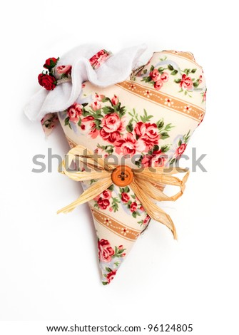Vintage heart - stock photo