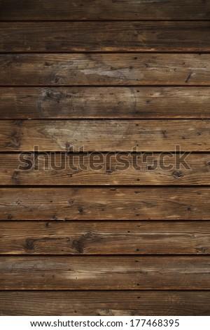 Vintage Horizontal Wood Planks Background. - stock photo