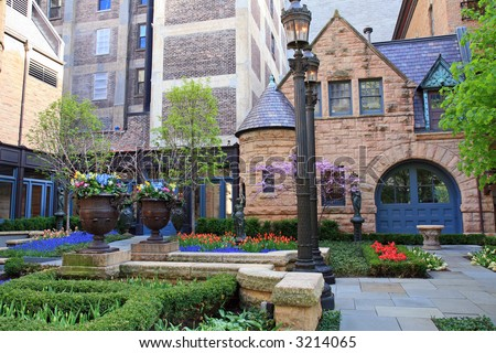 Vintage House in the River North neighborhood of Chicago - stock photo