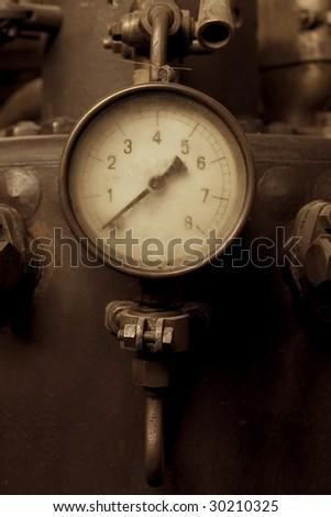 vintage industrial meter - stock photo