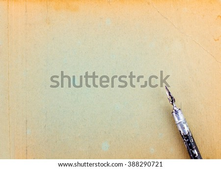 Vintage Ink Pen - stock photo