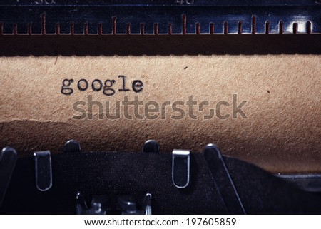 Vintage inscription made by typewriter - stock photo
