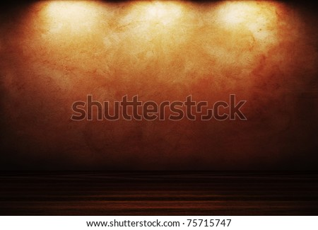 vintage interior room - stock photo