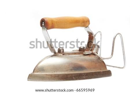 Vintage isolated iron - stock photo