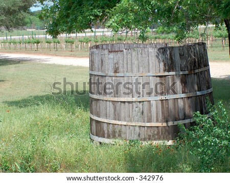 Vintage Italian barrel for stomping grapes - stock photo