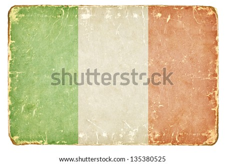 Vintage Italian flag. - stock photo