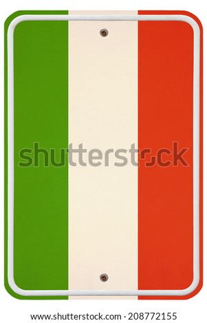 Vintage Italy metal sign  - stock photo