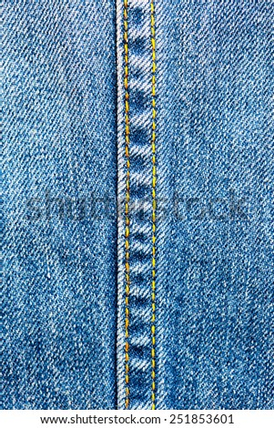 vintage jeans background with seams - stock photo