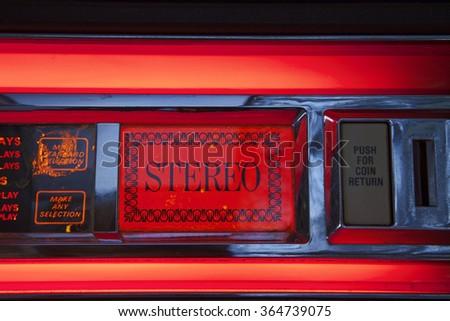Vintage Juke Box - stock photo